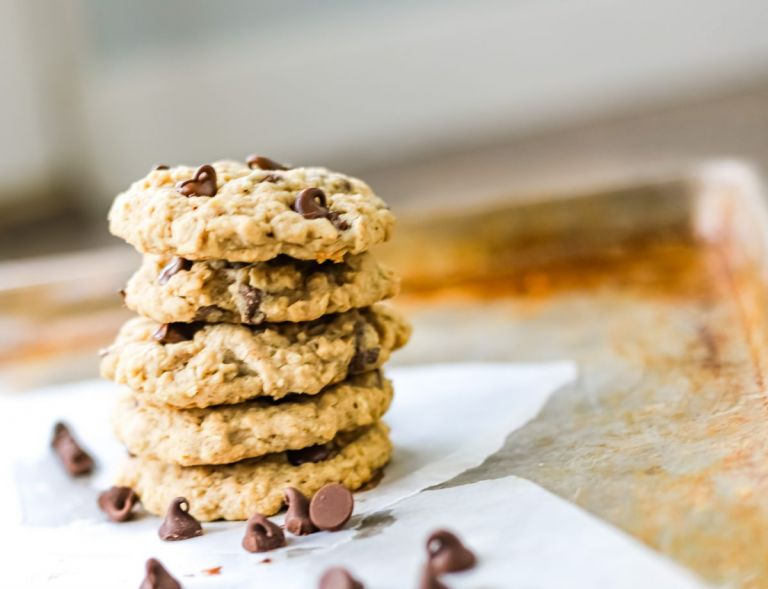 Best Oatmeal Chocolate Chip Cookies Stacked