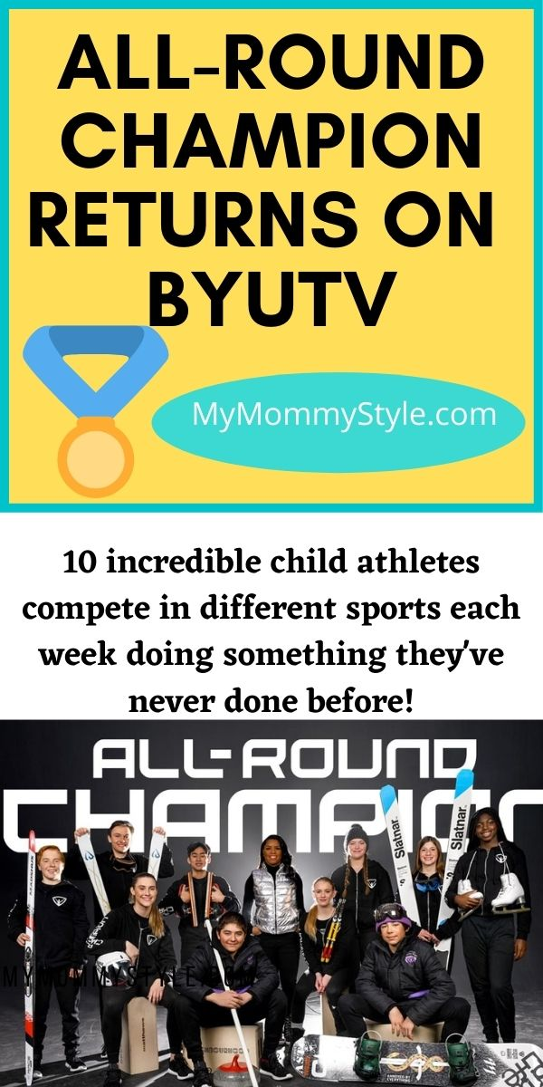 All-Round Champion Season 2 on BYUtv! This is an incredible show for families to teach you tenacity & grit. Trying new things with healthy competitions! #ad #BYUtv #BYUtvtogether #AllRoundChampion via @mymommystyle