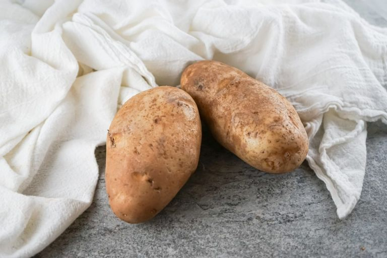 two russet potatoes