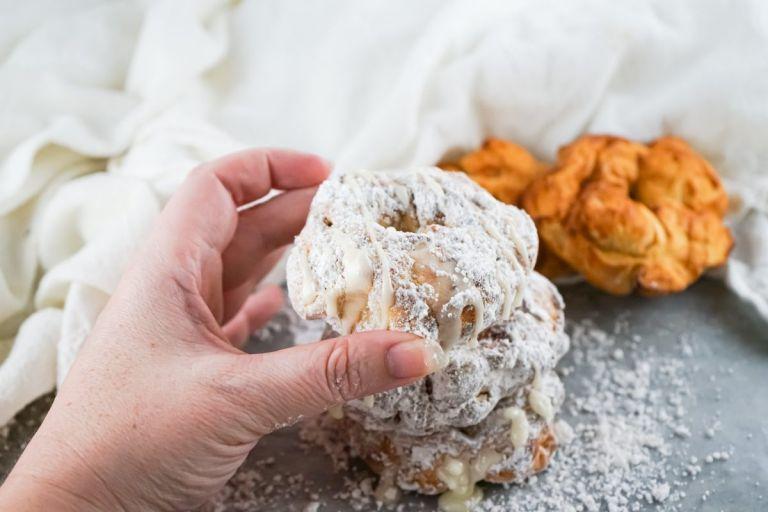 Holding an air fryer donut