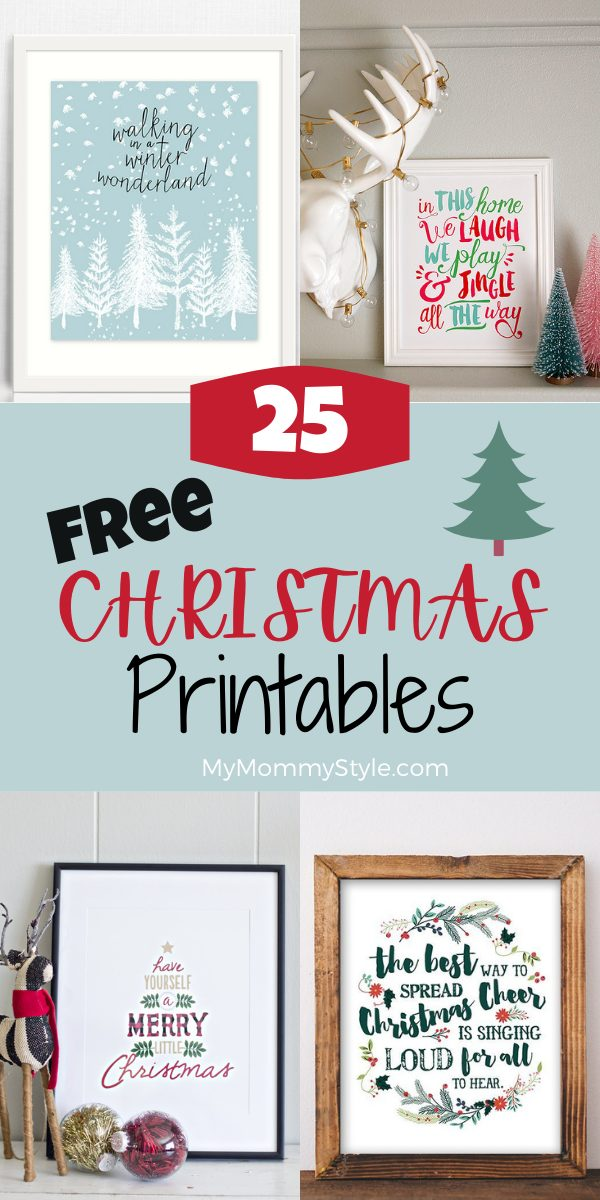25 Free Christmas Printables - My Mommy Style