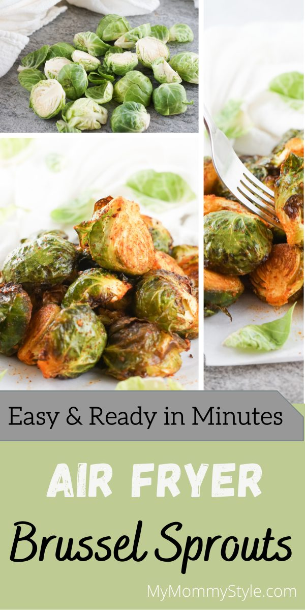 Make one of the easiest and most satisfying side dishes when you make these Air Fryer Brussel Sprouts. Few ingredients and ready in minutes. #airfryerbrusselsprouts #brusselsproutsairfryerrecipe #brusselsproutsinairfryer via @mymommystyle