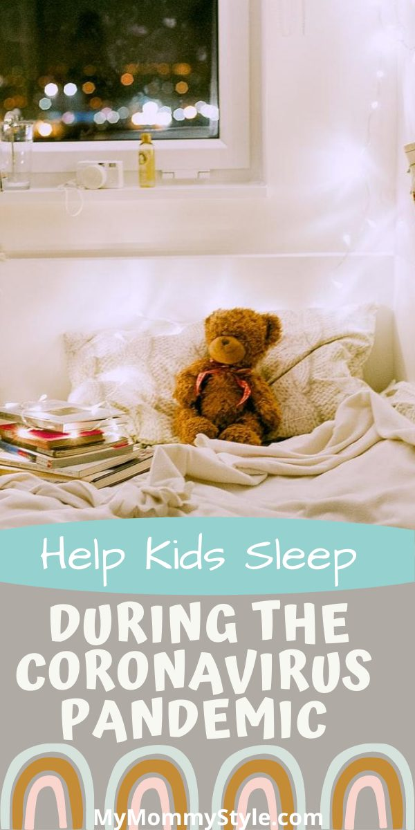 Kid's schedules are off and they may not be getting their needed sleep. Here are tips to help kids sleep during the Coronavirus pandemic. #helpkidssleep via @mymommystyle