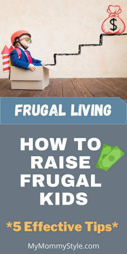 Frugal living boy in box