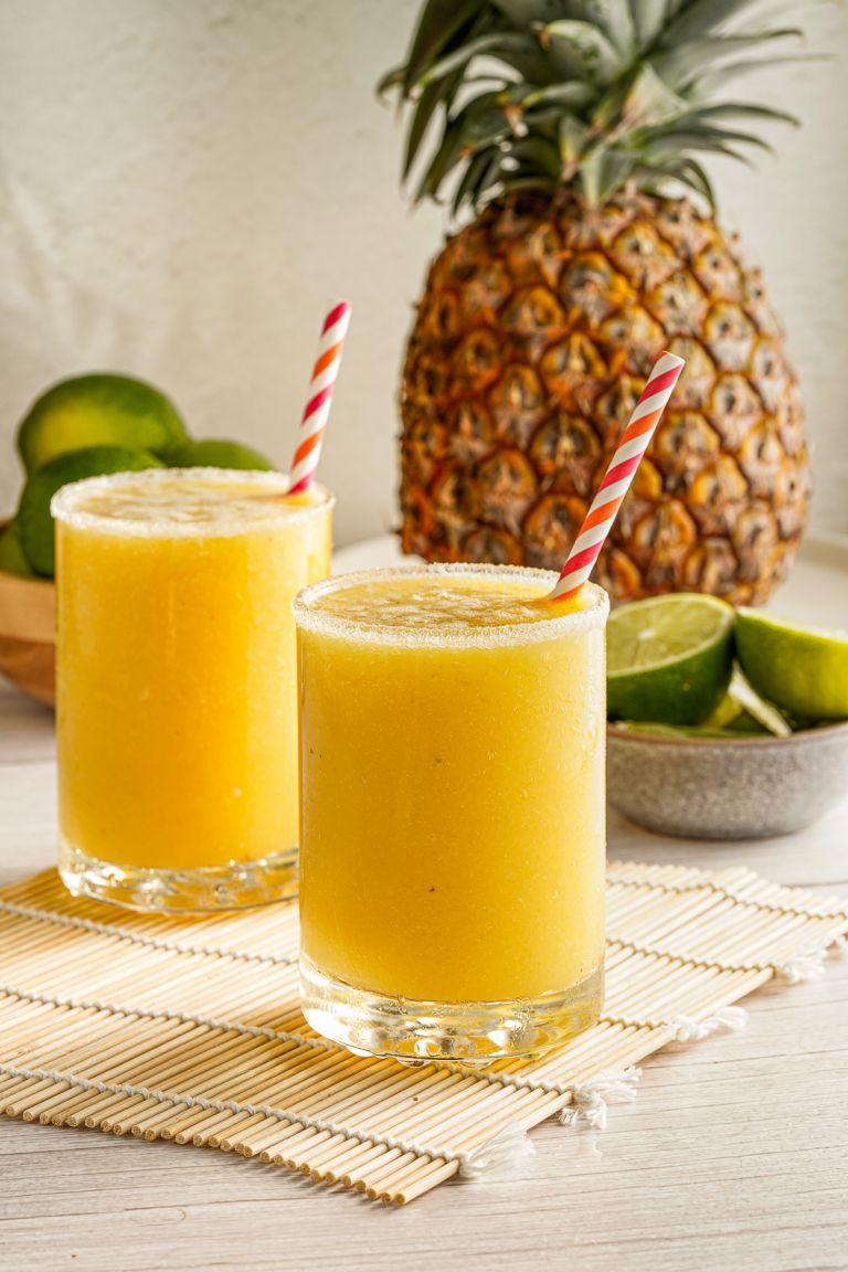 Pineapple and mango margarita mocktails
