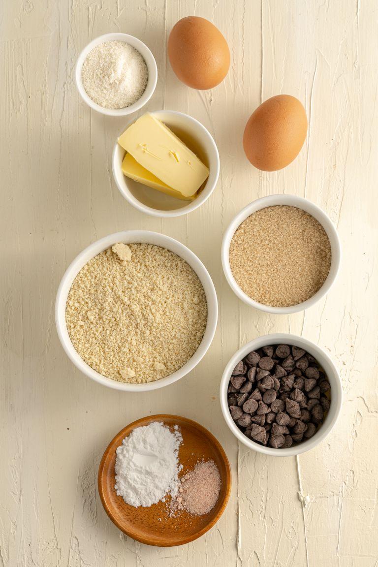 ingredients for almond flour blondies