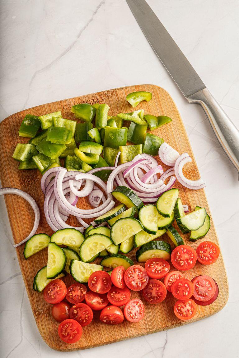 Chopped veggies