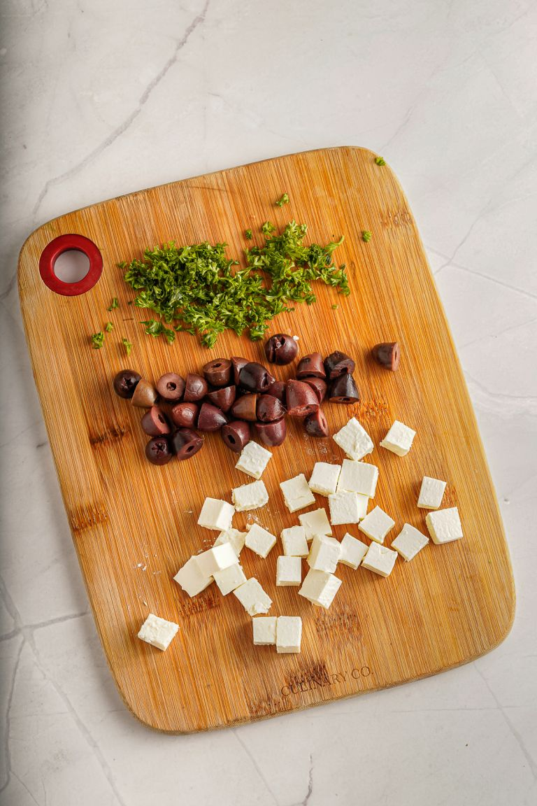 parsley, feta and olives