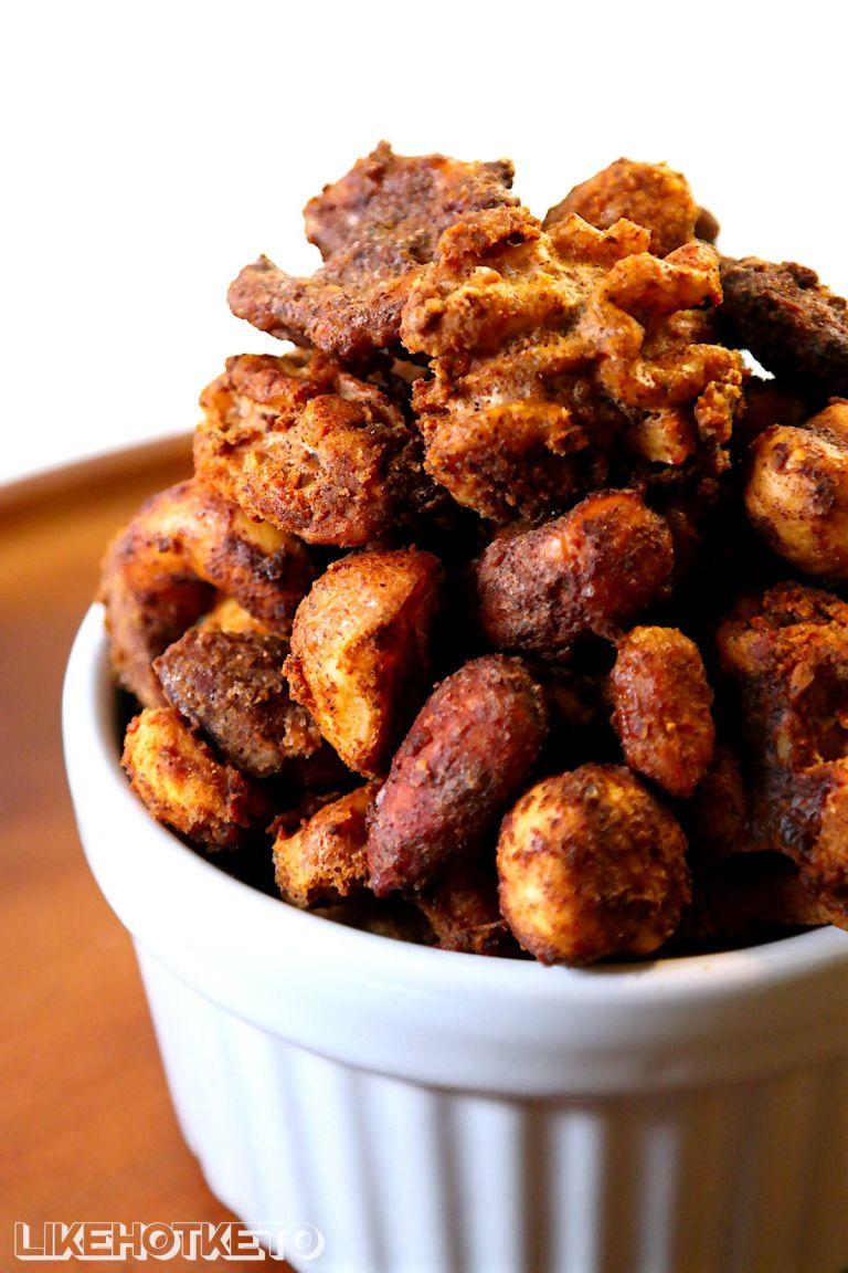 cinnamon non sugar candied nuts