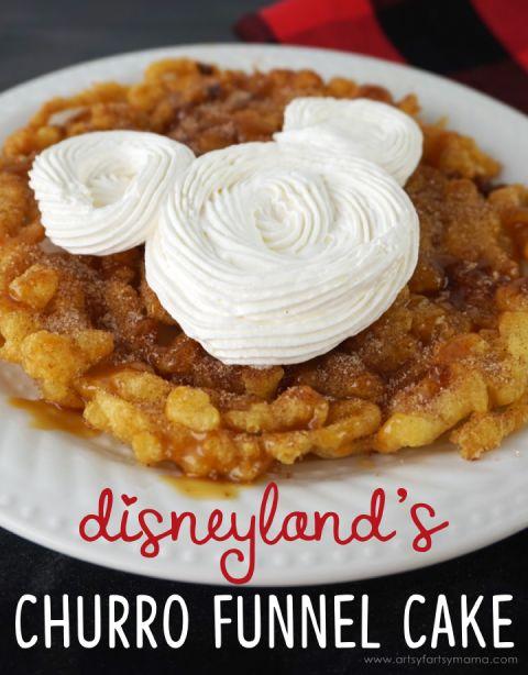 disneyland's churro funnel cake
