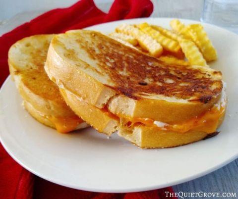 Three-Cheese Gilled Cheese Sandwich