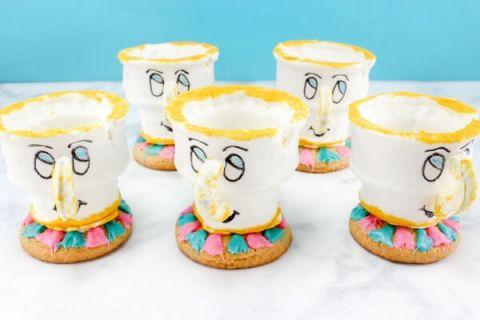 Chip tea cup cookies