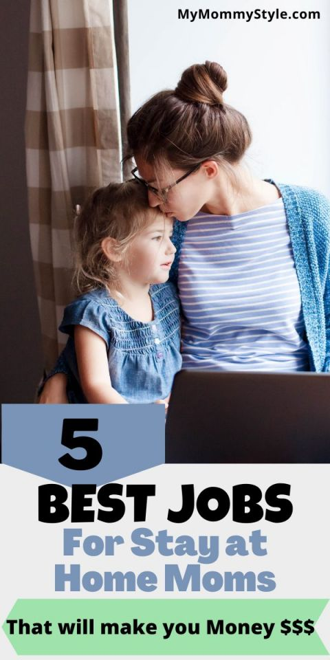 stay at home mom working and kissing her daughter